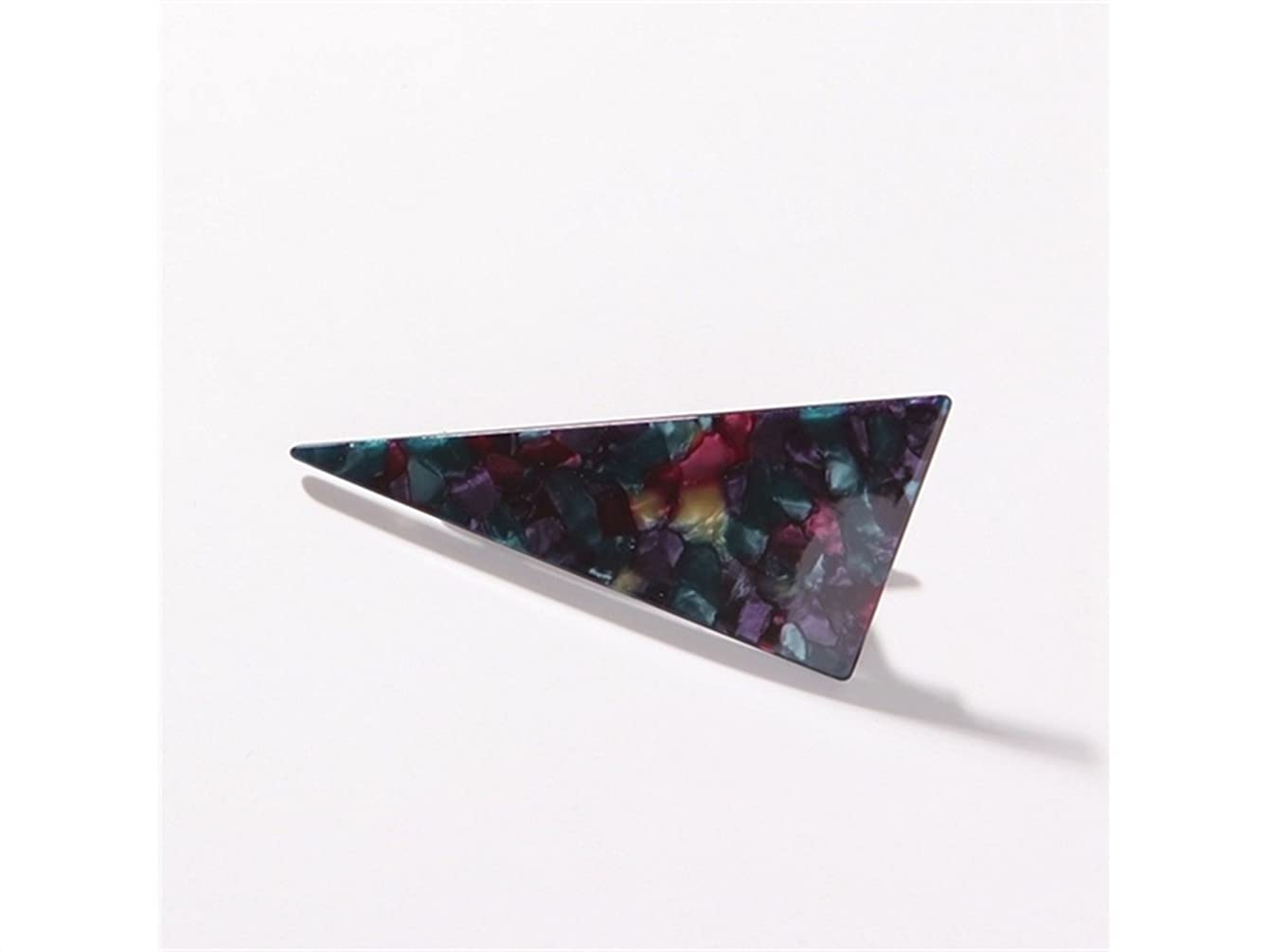 ダブルはさみ階Osize 美しいスタイル 大理石の三角ステッチ大人のヘアクリップダックビルクリップヘアアクセサリー(ブラック)