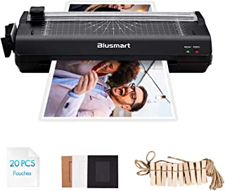 5 in 1 Blusmart Laminator Set, A4, Trimmer, Corner Rounder, 20 Laminating Pouches, Photo Frames, Black