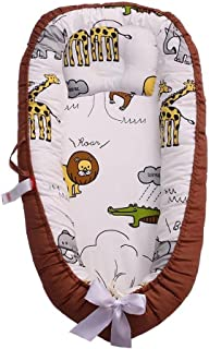 Baby Nest for Newborn and Babies,Baby Bassinet for Bed/Lounger/Nest/Pod/Cot Bed/Sleeping, Breathable & Comfy Cotton