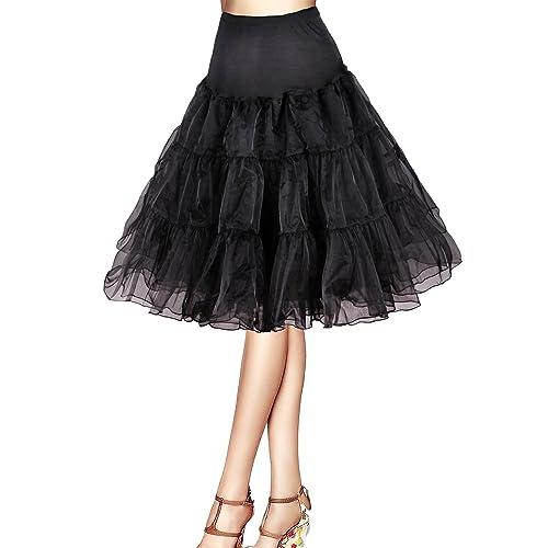 16da6b2876 Flora® 50s Vintage Rockabilly Petticoat Skirt, 25