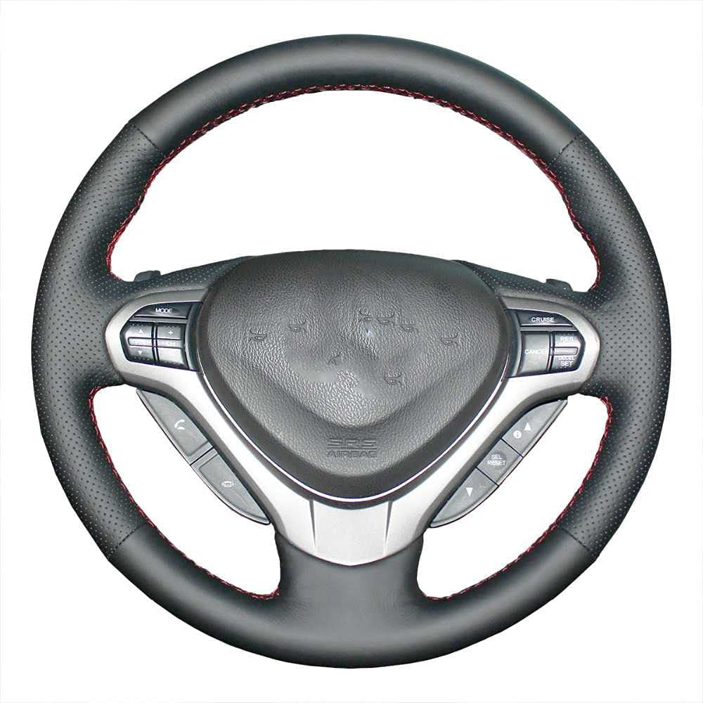 ZIMAwd Car Free shipping anywhere in Max 86% OFF the nation Steering Wheel Cover for Spirior 2009-2013 Honda Fit