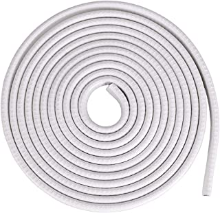 Sumnacon Car Door Edge Guards 13Ft - Flexible Rubber Edge Trim For Protecting Edges of Cars, Boats, Vehicles & Metal Glass Equipment, Durable and Removable Protector Guard Seal Strips White