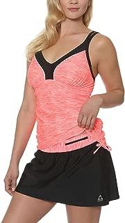 Women's Colorblock Tankini Swimsuit with Built in Bra