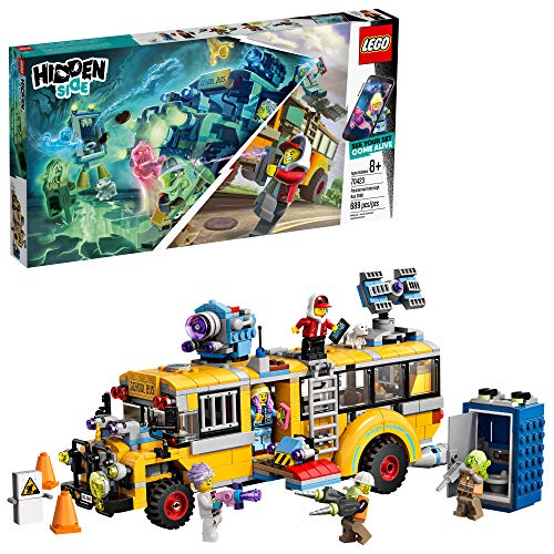 LEGO Hidden Side Paranormal Intercept Bus 3000 70423 Augmented Reality (AR) Building Kit with Toy Bus, Toy App allows for endless Creative Play with Ghost Toys and Vehicle (689 Pieces)