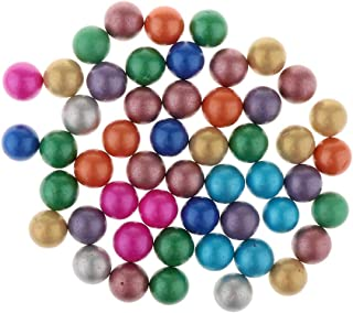 Flameer 16mm Glass Marbles, Pack of 90, Marble Ball Run Game Toy, Chinese Checkers Marble Solitaire Beads Home Collections #B