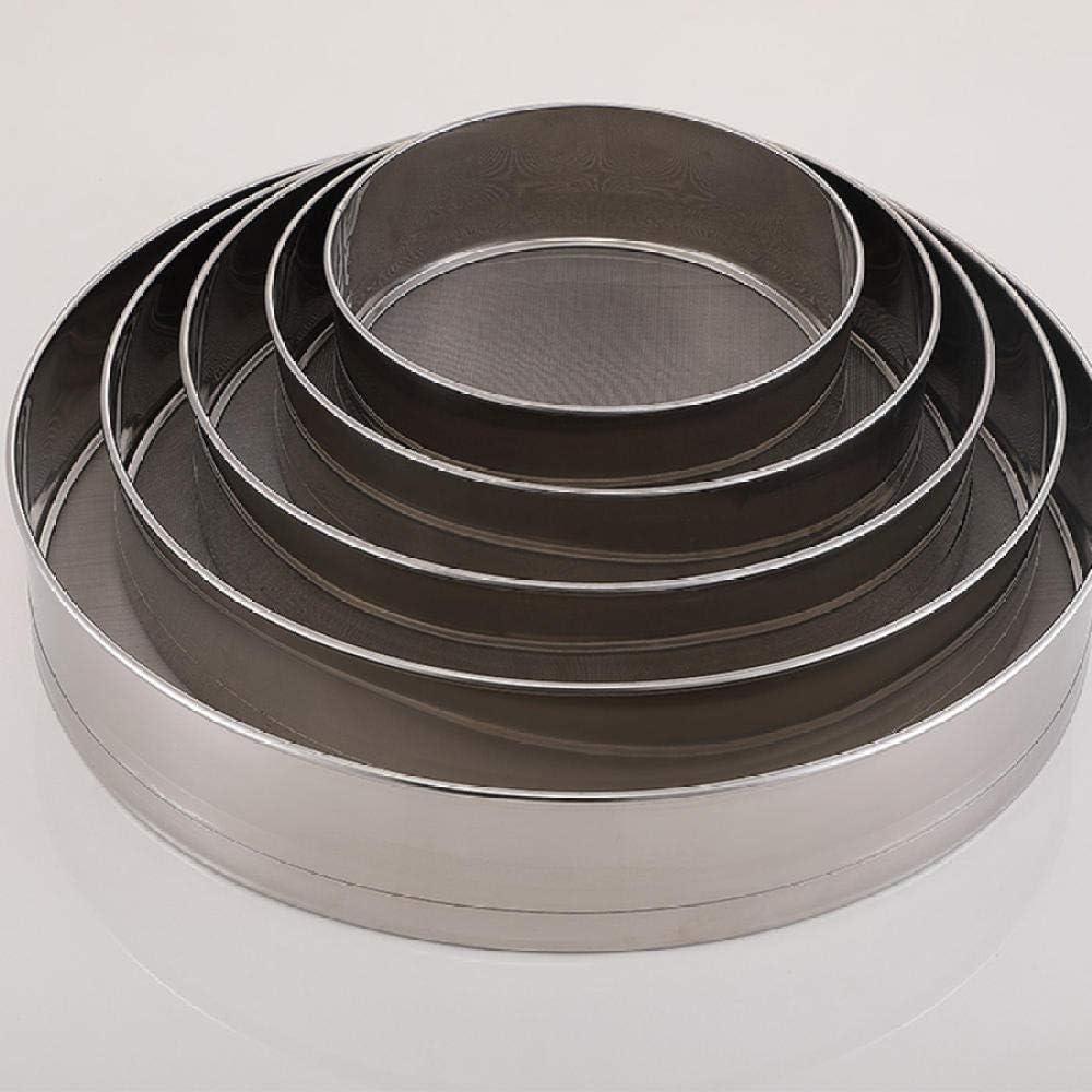 tamiz de tambor LFchujian Tamiz de malla de alambre fino Tamiz de tamiz de malla fina de acero inoxidable de primera calidad coladores y tamices con mango largo-Los 7cm