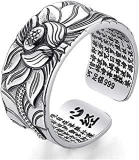 BALMORA 925 Sterling Silver Band Rings for Women Mother Gifts Open Adjustable Ring Jewelry