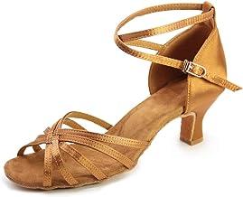 Women's Ballroom Dance Shoes Satin Latin Shoes Tango Salsa Party Dancing Shoes