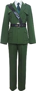 Hetalia Axis Powers England Arthur Kirkland Military Uniform Cosplay Costume