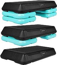 SportVida Stepbank voor aerobic, stepbank voor fitness, 70 x 36 cm, in hoogte verstelbare stepper voor thuis en buiten, me...