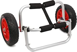 SHZICMY Chariot de transport pour kayak avec roues gonflables 150 lbs
