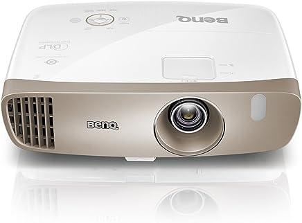 BenQ 明基 W2000 1080p Home Ci - nema投影仪(Rec.709,DLP,2000流明,15000:1高对比度,短投,1920 x 1080,20W扬声器,3D,HDMI,无线,简易设置,CinePrime系列)- 金色/白色
