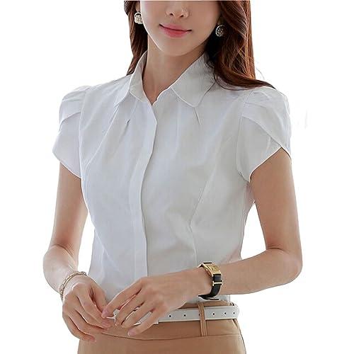 05ff01b755 Women's White Cotton Blouse: Amazon.co.uk