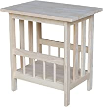 International Concepts Mission Magazine End Table, Unfinished