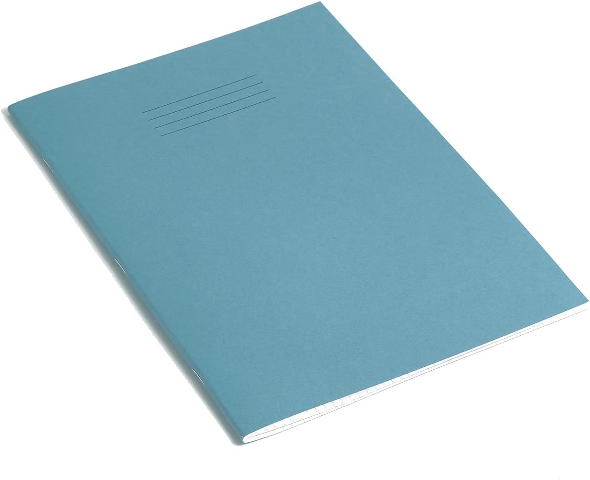 Rhino Exercise Book 8mm ruled lines with margin Pack of 10 A4 Orange Cover 64 page