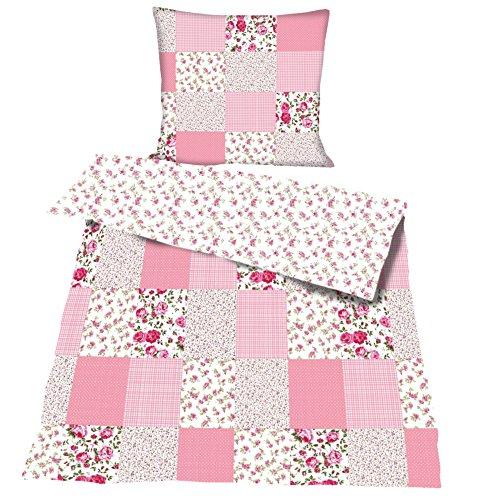 JEMIDI Bettwäsche Bettbezug Bettbezüge Bettgarnitur 135cm x 200cm Bettdecke Kopfkissen 2 teilig Bett Wäsche Singlebett Bezüge Mädchen Jungen Bezüge Bezug (Patchwork)