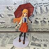 NAMFXH Sword Art Online Yuuki Asuna Asuna Ropa Informal Paraguas Modelo en Caja Figura de Juguete de Paisaje