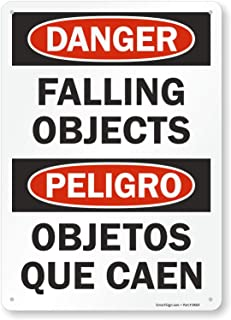 falling objects safety signs
