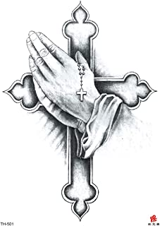 Prayer Hand Cross Large 8.25