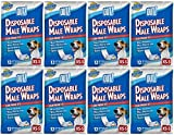 OUT! Disposable Male Dog Diapers   Ultra-Absorbent, Leak-Proof Disposable Wraps   8 Packs (96 Total Diapers)