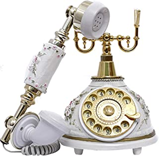 Retro Vintage Telephone, Antique Style Wired Landline Phone With Rotating Dial Home And Office Decoration Retro Landline