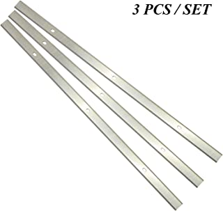 Planer Blades Knives HSS Replacement for Delta 22-580 22-549 22-555 22-590 Wen 6552 Craftsman 21743 Grizzly G0689 Ryobi AP1300 Metabo DH330 Thickness Planer 13 Inch Heat Treated Double edge Set of 3