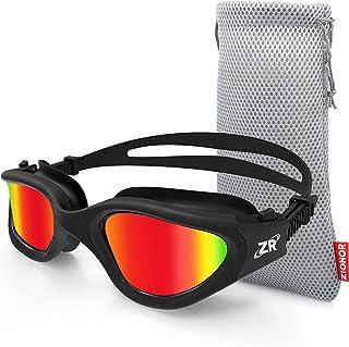عینک شنا Zionor ، عینک شنا Polarized G1 با آینه / لنزهای دود UV محافظ UT Wightrtight ضد مه قابل تنظیم تسمه مناسب برای مردان و زنان بزرگسال Unisex ، نوجوانان