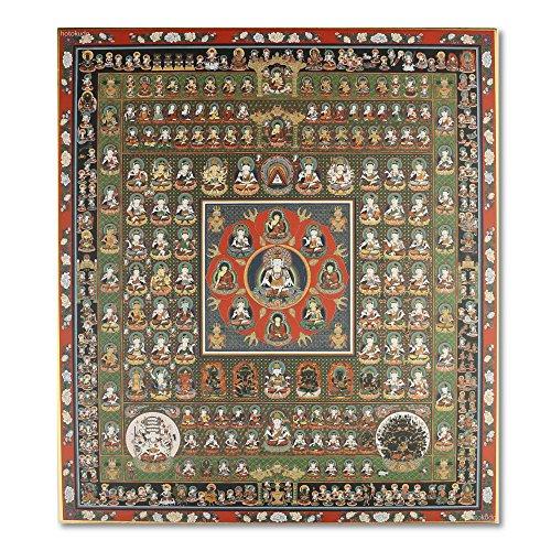 仏画色紙 曼荼羅 胎蔵界