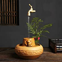 Home Accessories Laughing Buddha Tabletop Fountain with Led Light,Indoor Water Fountain Happy Buddha Statues,Waterfall Fea...