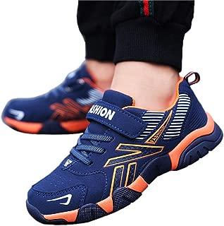 Hopscotch Boys Pu Athletic Shoes in Orange Color