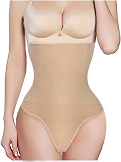 Nebility Women Butt Lifter Shapewear Hi-Waist Tummy Slimmer Thong Panty Seamless Body Shaper Shorts