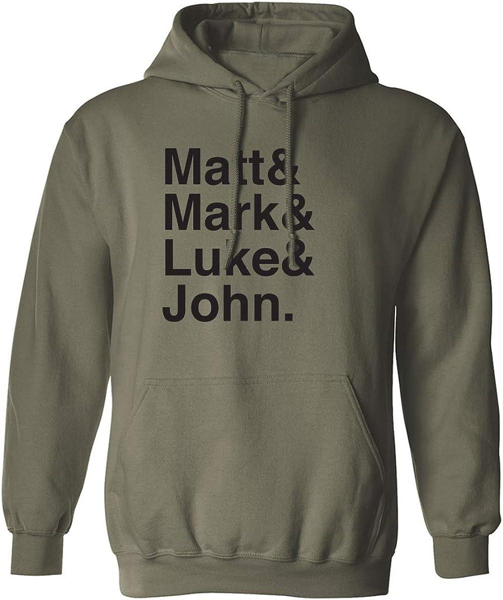 Matt & Mark & Luke & John Adult Hooded Sweatshirt