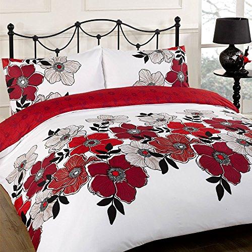 Pollyanna morado Funda de edredón juego de cama–single-double-king size-super King Size, poliéster, Rojo, matrimonio