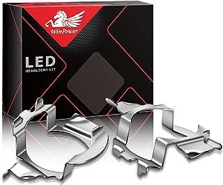 Win Power H7 LED Birne Basis Clips Adapter Halter Haltefedern Unterstützung Steckdose Zubehör für LED Lampensockel, 2 Stücke