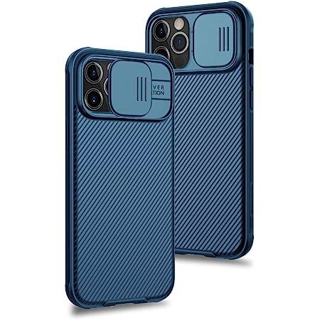 XTCASE Funda para iPhone 12 Pro MAX, Protección de la cámara Carcasa Cubierta de cámara Deslizante Proteger Ultra-Delgado Híbrida PC Anti-Choque Anti-arañazos - Azul