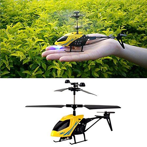 Dairyshop Mini 2CH RC Elicottero Radio Telecomando Elettrico Micro Aircraft 2 Canali
