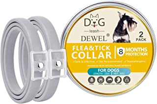 comprar comparacion DEWEL Collar Antiparasitos Perro/Gato para Pulgas,Garrapatas y Mosquitos,Impermeable/Ajustable - 2 Piezas,63 cm