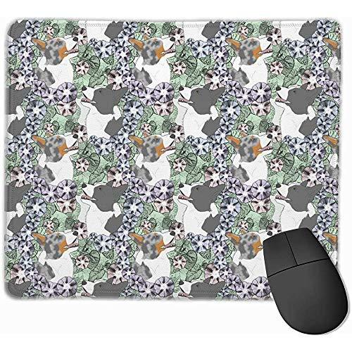 Rebeca Floral Corgi Galés Retratos B La Alfombrilla de ratón