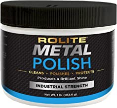 Rolite Metal Polish Paste – 1lb, Industrial Strength Polishing Cream for Aluminum, Chrome, Stainless Steel & Other Metals, 1 Pack