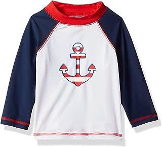 Children's Apparel Baby and Toddler Boys UPF 50+ Long Sleeve Rashguard Swim Shirt