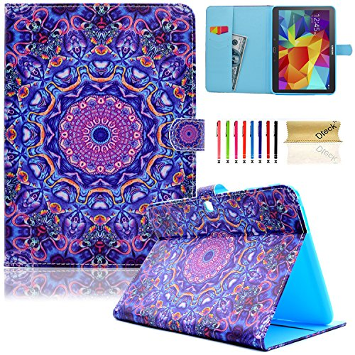 Galaxy Tab 4 10.1 Case, Dteck(TM) Slim Folio Stand Cover Case with Auto Wake/Sleep Feature Magnetic Card Slots Smart Shell Case for Samsung Galaxy Tab 4 10.1 SM-T530NU T530 T531 T535, Purple Circle