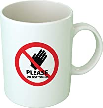 Upteetude Don'T Touch Coffee Mug - White