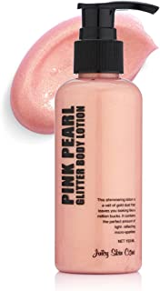Juicy Skin Care Gold Glitter up! - Pink Pearl glitter Body lotion & Smoothing Lotion. (Pink Pearl)