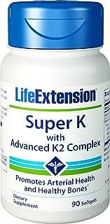 Life Extension(ライフエクステンション) スーパーK アドバンスK2コンプレックス配合 90錠 ソフトジェル [海外直送品]