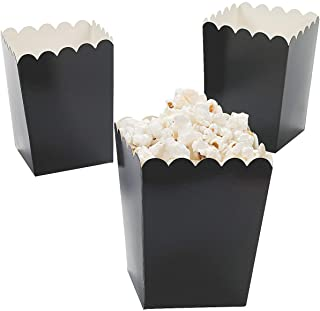 Fun Express - Mini Black Popcorn Boxes (24pc) - Party Supplies - Containers & Boxes - Paper Boxes - 24 Pieces