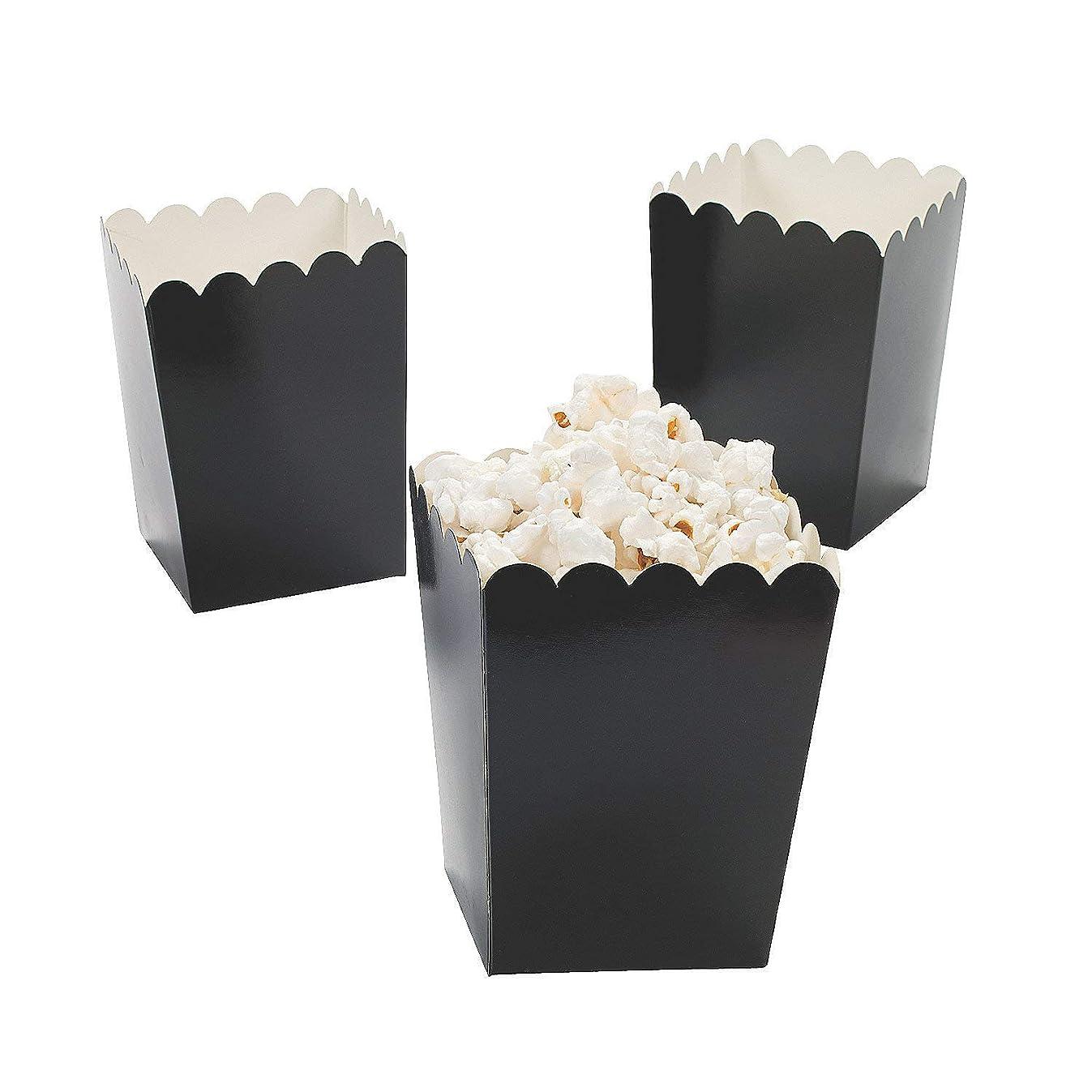 Fun Express - Mini Popcorn Boxes (Black) (2 Dozen per Unit)