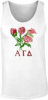 Alpha Gamma Delta Roses Graphic Unisex Tank Top by Fashion Greek