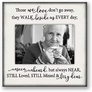 8.5x8.5 desktop memorial picture frame, bereavement gift, parent, mom, dad, grandma, grandpa White51