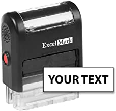 ExcelMark Custom Self Inking Rubber Stamp - Home or Office (A1539-1 Line with Bold Font)