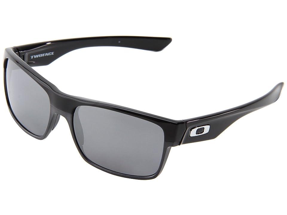 Oakley Two Face (Polished Black/Black Iridium) Sport Sunglasses